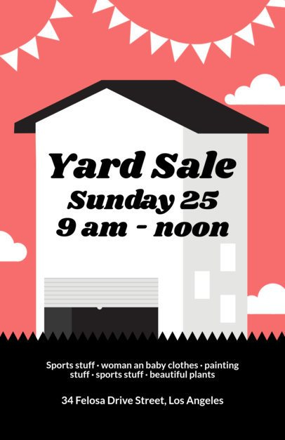 Yard Sale Flyer Template a104