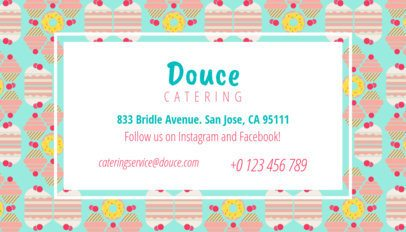 Catering Business Card Maker with Desserts in the Background 143