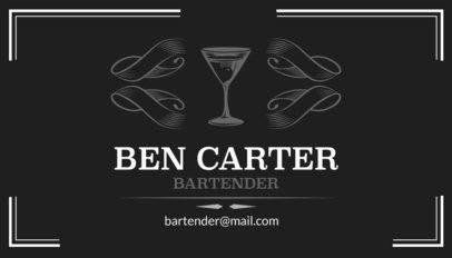 Bartender Business Card Template a162