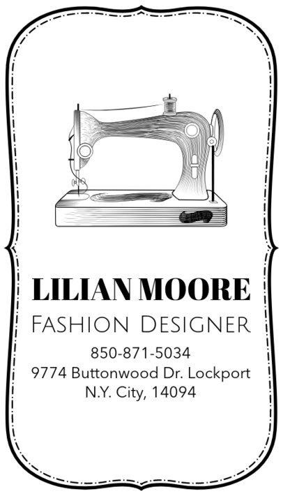 Fashion Designer Business Card Template a180