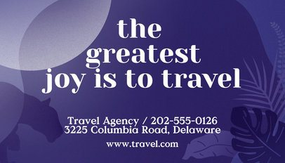 Travel Agency Business Card Template a262