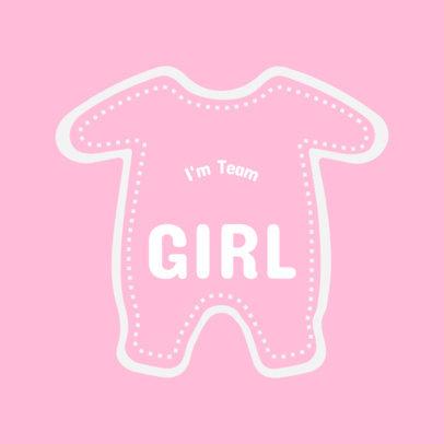 It's a Girl T-Shirt Design Template 1021c