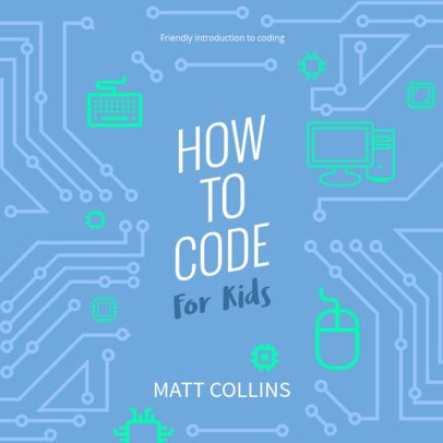 Coding for Kids Book Cover Template 471b