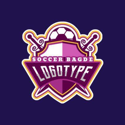 Feminine Soccer Sports Logo Maker 196b