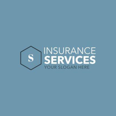 Insurance Company Logo Maker with Geometric Shapes 1017d