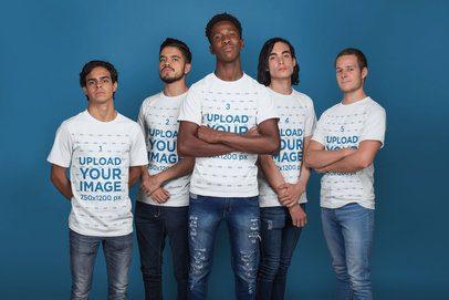 T-Shirt Mockup Featuring an Esports Team a21090