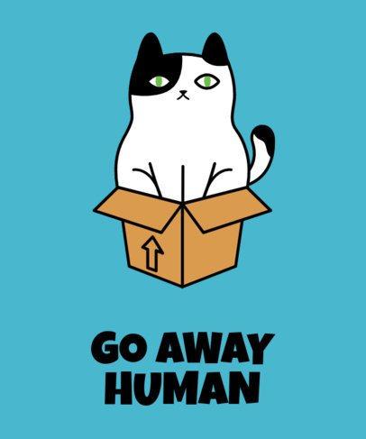 Angry Cat T-Shirt Design Maker 24c