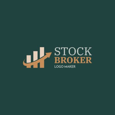 Logo Maker for a Stock Broker with Graph Icon 1175g