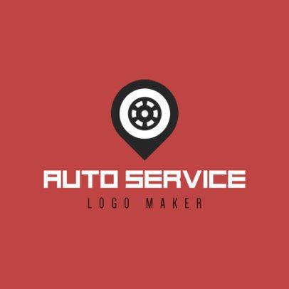 Auto Service Logo Maker with Wheel Icon 1186c