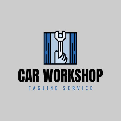 Car Workshop Logo Maker with Wrench Icon 1186d
