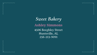 Bakery Business Card Maker for Minimalist Designs 65a
