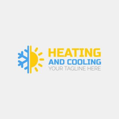 HVAC Logo Maker with Sun and Snowflake Icon 1179b