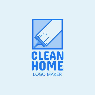Home Cleaners Logo Maker with Cleaning Icons 1204a