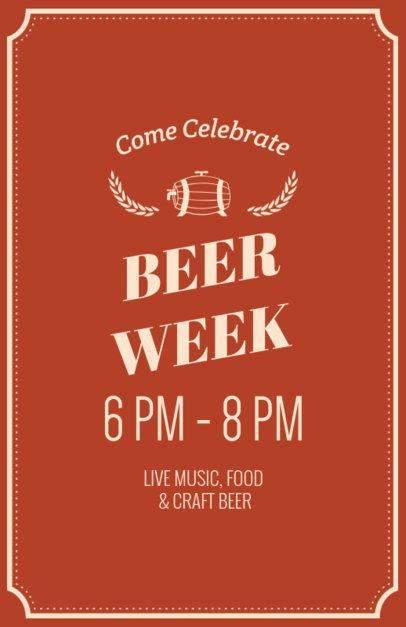 Online Flyer Maker for Beer Tasting Events 94c