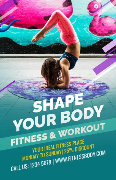 Fitness-Related Flyer Maker for a Yoga Class a353