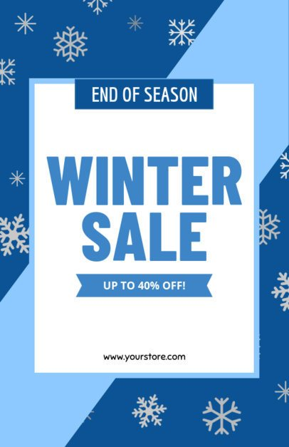 Flyer Maker for Winter Sales 185e