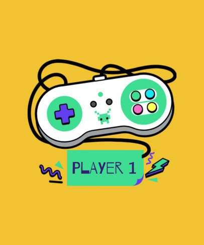 Video Games T-Shirt Design Maker 6a