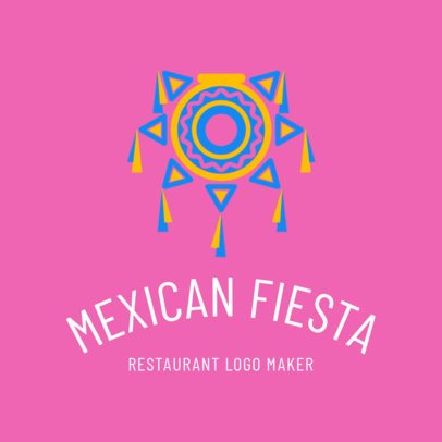 Mexican Restaurant Logo Maker with Pinata Graphic 1195c