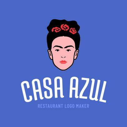 Mexican Restaurant Logo Maker Blue Theme 1195e