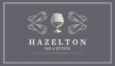 Online Business Card Maker for Wine Bars 162a
