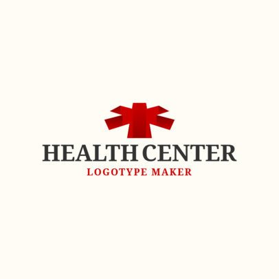 Online Logo Maker for Health Center with 3d Icons 1172f