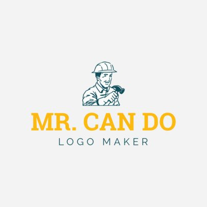 Handyman Logo Maker with a Male Character 1175c