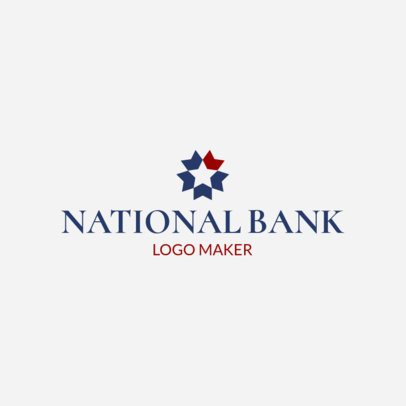 Bank Logo Maker with Star Graphic 1160b