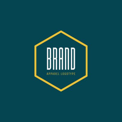 Apparel Brand Logo Maker with Hexagon Graphic 1053c