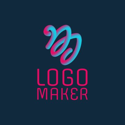 DJ Logo Maker with an Abstract Icon 1081a