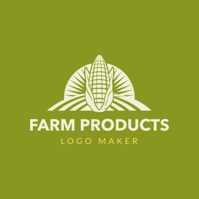 Farm Logo Maker for Farm Products with Corn Icon 1126b