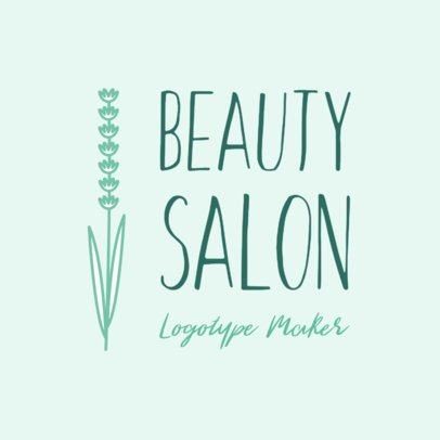 Beauty Salon Logo Maker with Floral Theme 1137c