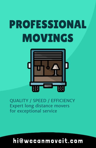 Flyer Maker for Moving Companies with Truck Illustration 204a