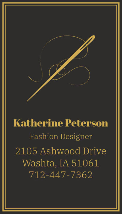 Business Card Template for Tailors with Tailor Images 180c