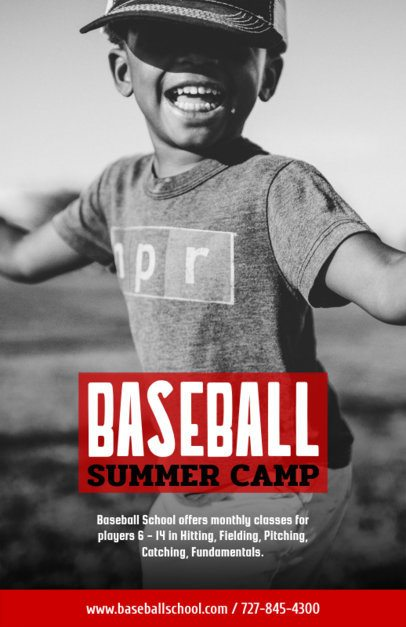 Online Flyer Maker for a Baseball Summer Camp 222e