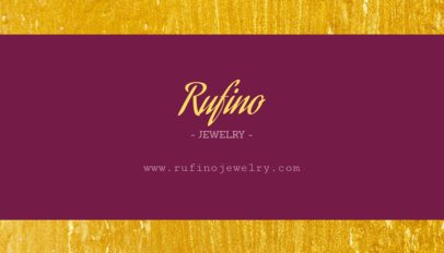 Jewelry Store Business Card Template 224d-1819