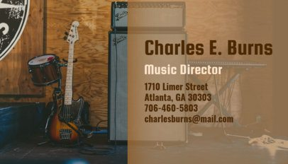 Music Producer Business Card Maker 101a