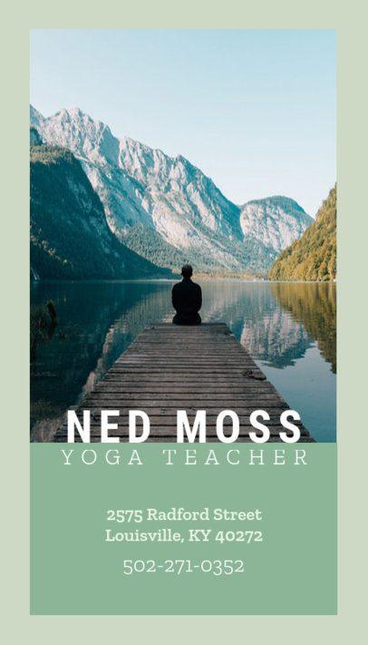 Yoga Instructor Vertical Business Card Template 146e