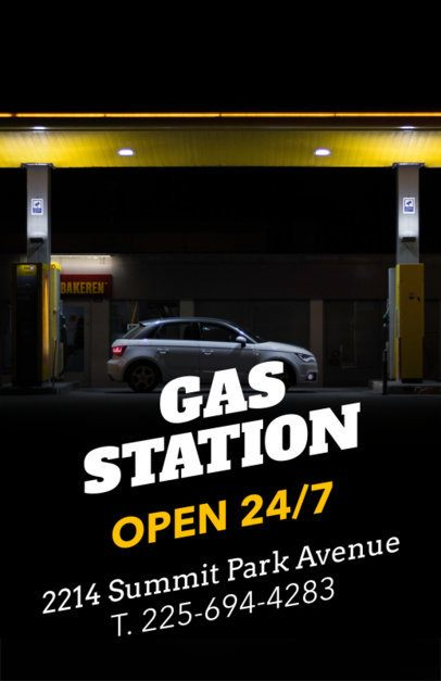 Flyer Maker Template for a Gas Station 273f