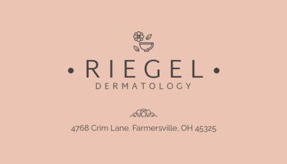 Dermatology Business Card Maker 203b