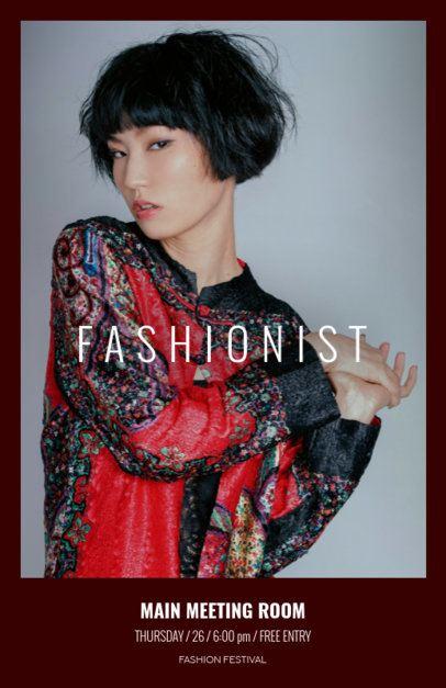 Modern Fashion Show Online Flyer Maker 167e