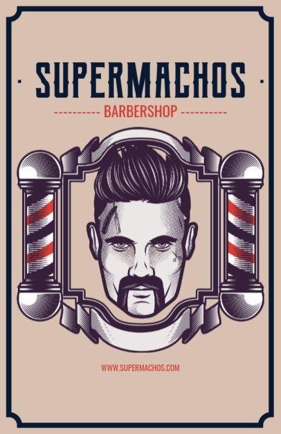Barber Shop Flyer Maker with Man Illustration 218a