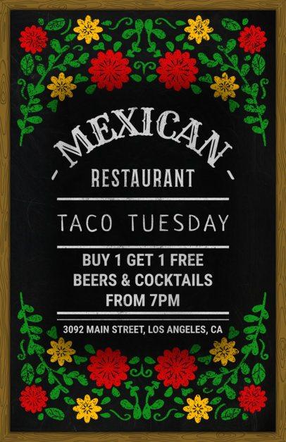 Flyer Maker for Mexican Restaurants with Blackboard Design 371