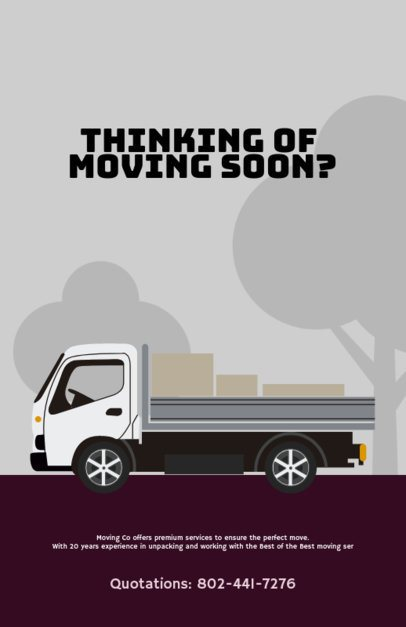 Moving Company Flyer Template with Illustration Graphics d318