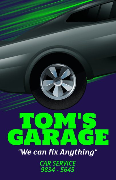 Online Flyer Maker for a Car Garage with Vector Graphics 289d