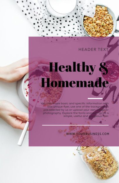 Flyer Template for Homemade Food with Food Images 281e