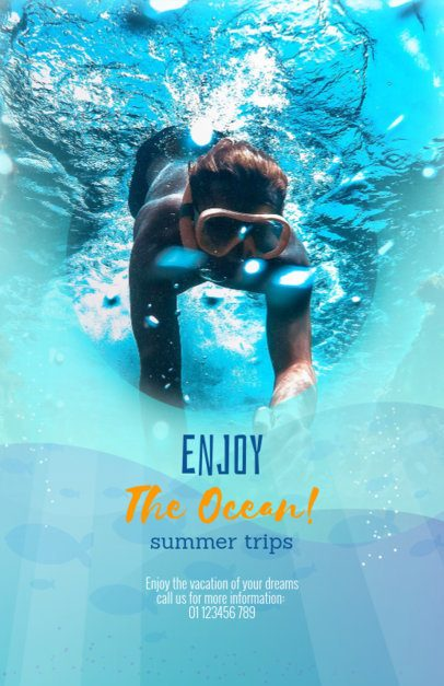 Online Flyer Maker for Travel Agency with Scuba Diving Trips 324d