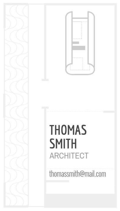 Architect Business Card Template - Light Theme 306c