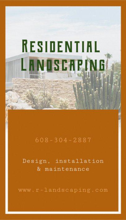 Online Business Card Maker for Landscaping Business 124b