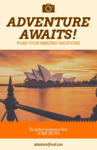 Vacation Flyer Maker for a Travel Agency Orange Theme 307e