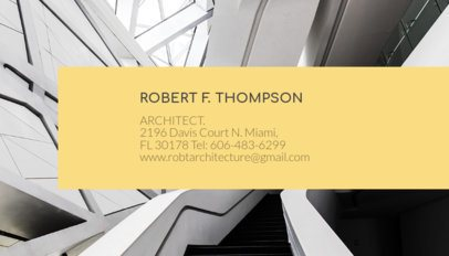 Business Card Maker for Architect with Architecture Images a316e